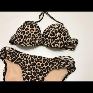 Xhilaration Leopard Bikini Set