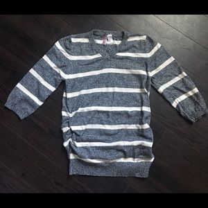 Oh! Mamma Sweaters - Maternity  3/4 sleeve Striped Sweater Medium
