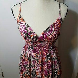 Aqua Dresses & Skirts - Aqua Floral Flounce Sundress