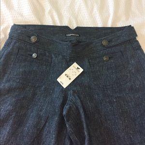 Express Pants - NWT express linen blend sailor pants size 4