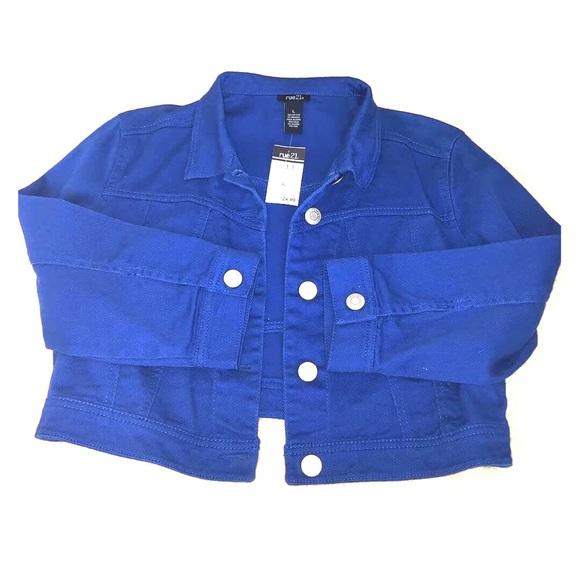 363b4ded5077b NWT Rue21 Royal Blue Denim Jean Jacket