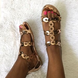 Shoes - LOWEST PRICE - ONLY 4 LEFT! Rose Gold Sandals