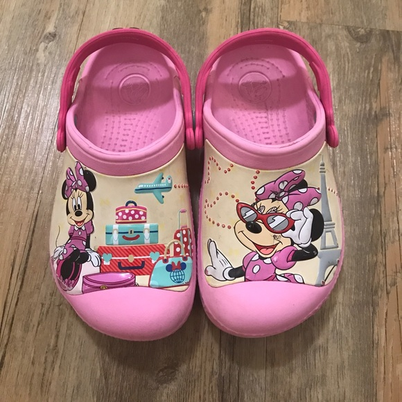 2330ecfa05cd6 CROCS Other - Disney Minnie Mouse crocs kids size 10-11