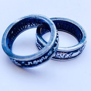 Alchemy Jewelry - Angel White & Demon Dark Stackable Rings 7