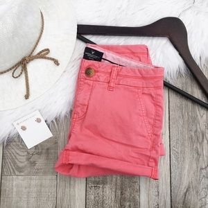 American Eagle Outfitters Pants - AEO Pink Midi Shorts