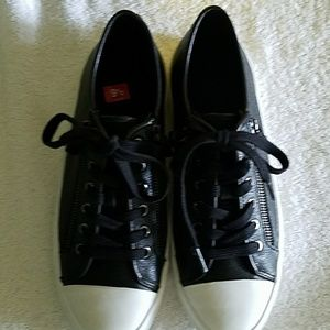 Coach Shoes - Coach empire sneakers black and white w/zippers