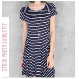 Alya Dresses & Skirts - Cute 4th of July Navy Striped Dress