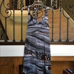 Christina Love Dresses & Skirts - Christina Love Asymmetrical Halter Top Dress Sz L