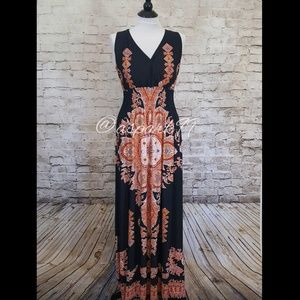 Milano Dresses & Skirts - Aztec Print V neck Maxi Dress by Milano NWOT