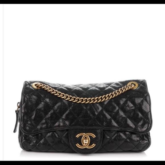 ce125b9e7a6d4b CHANEL Handbags - Chanel Crumpled Grained Shiva Flap