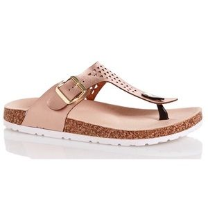 Qupid Shoes - Qupid Rose Gold 'Birkenstock Style' Sandals