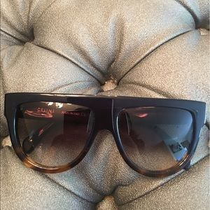 Celine Accessories - Celine navy blue/Havana brown ombré flat top