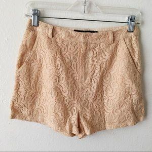 Ark & Co Cream Lace Shorts