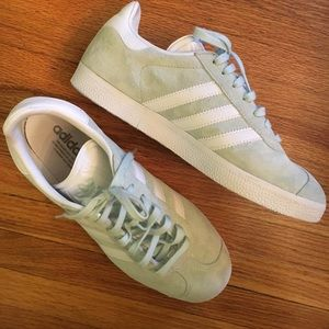 adidas Shoes - Adidas Gazelle in light green suede ⚽️