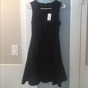 NWT v neck black banana republic dress size 2