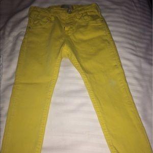 Zara Other - Zara Kids Yellow Denim Jeans