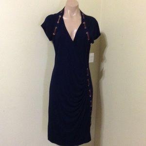 Carmen Marc Valvo navy nwt $145.00 dress