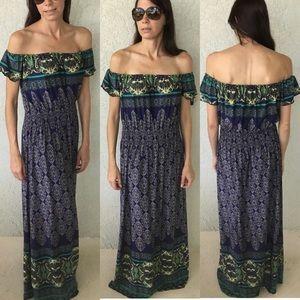 Dresses & Skirts - Navy & Green Dress  M,L,XL,XXL