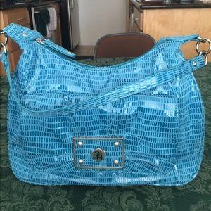 Sag Harbor Handbags - SAG HARBOR TEAL ONE STRAP SHOULDER BAG -AQUA COLOR