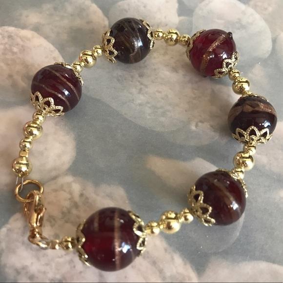 Boutique - Vintage Venetian glass with adventurine bracelet from Vintage's closet on Poshmark