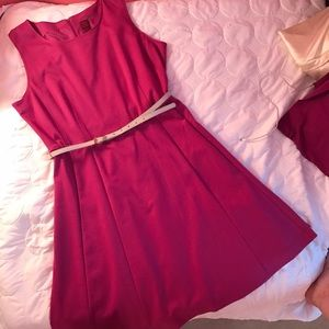 212 Collection Dresses & Skirts - NWOT Pink/Magenta Belted Dress