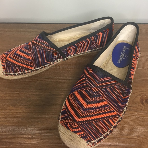 955c0f3975b7f6 Sam Edelman Blue and Orange Aztec Espadrilles. M 5949a456713fde3f7f01c20d