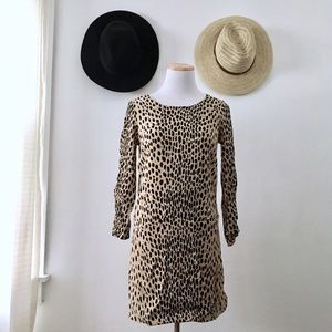 JCrew Leopard Print Tunic Dress