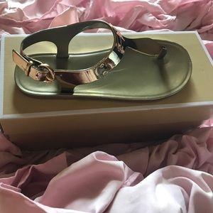 Michael Kors Shoes - MK Metallic Jelly Sandal
