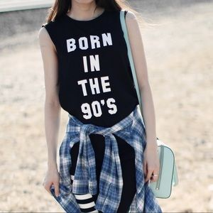 H&M Tops - Vintage Born In The 90's Muscle Tank Top Urban