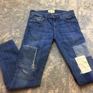 Current/Elliott Denim - Current/Elliott Stiletto Panhandle Patchwork Jeans