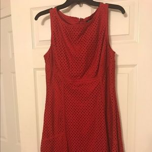 NWT Chaps red eyelet dress 🆕🆕