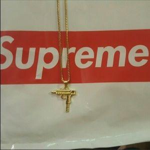 Supreme Other - 18k gold supreme uzi chain
