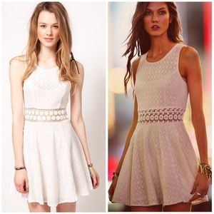 Free People Lace Skater Dress with Daisy Waist