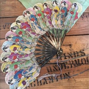 Accessories - Vintage Asian Fan.