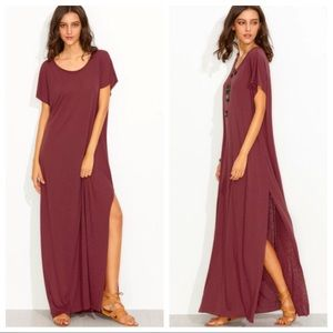 Red Maxi Tee Dress 💋