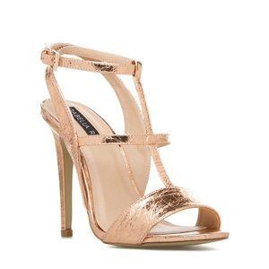 ShoeDazzle Shoes - Shoedazzle michaela rose gold heels 7