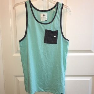 on the byas Other - NWT pocket tank top aqua/black on The Byas PacSun