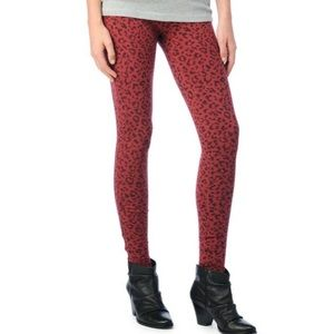 Splendid Leopard Downtown Leggings, XS