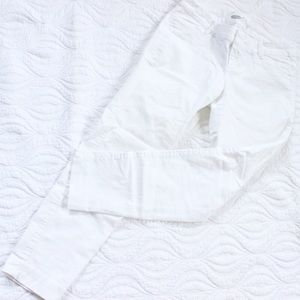 Old Navy Pants - Old Navy White Pixie Pants
