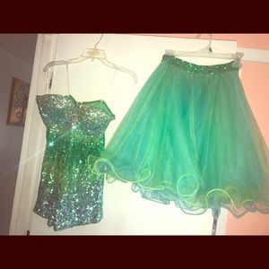 1154 Lill Studio Dresses & Skirts - 2 PEICE TURQUOISE GREEN HOMECOMING PAGEANT DRESS!!