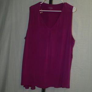 Simply Emma Tops - Fuchsia pink tank top