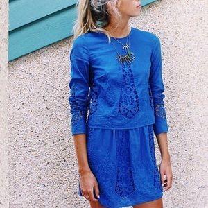 The Jetset Diaries Dresses & Skirts - The Jet Set Diaries Blue Shift Dress