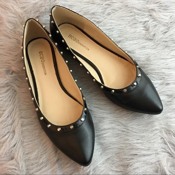 Bcbgeneration Womens Bcbgeneration Black Flats Shoes