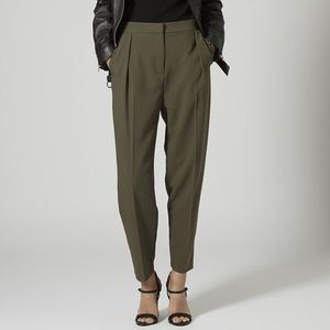 boutique Pants - NWT Silk Lined Wool High Waist Trousers