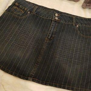 Apollo Jeans Dresses & Skirts - 🌞3 for $25 VINTAGE 80's APOLLO Pinstriped Denim