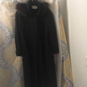 Gallery Jackets & Blazers - Plus size GALLERY WOOL COAT w/detachable FUR HOOD