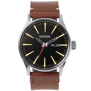 Nixon Other - Men's Sentry Leather watch Nixon brown A105019 nwt