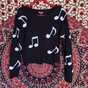 Cropped Music Sweater