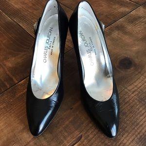 Charles Jourdan Shoes - Vintage 80's Charles Jourdan Black Pumps