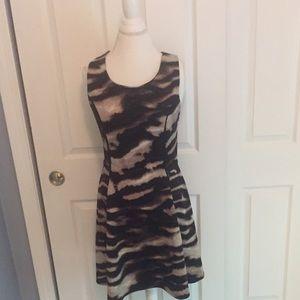 Price Reduces!! Mossimo Scuba Dress in Tiger print